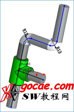 solidworks routing 里如何制做 管道零部件 的绘制 SW步路管道基础设计