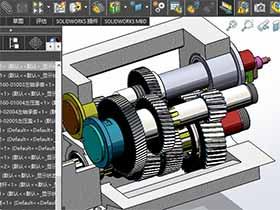 solidworks装配体中的剖视图如何添到工程图中