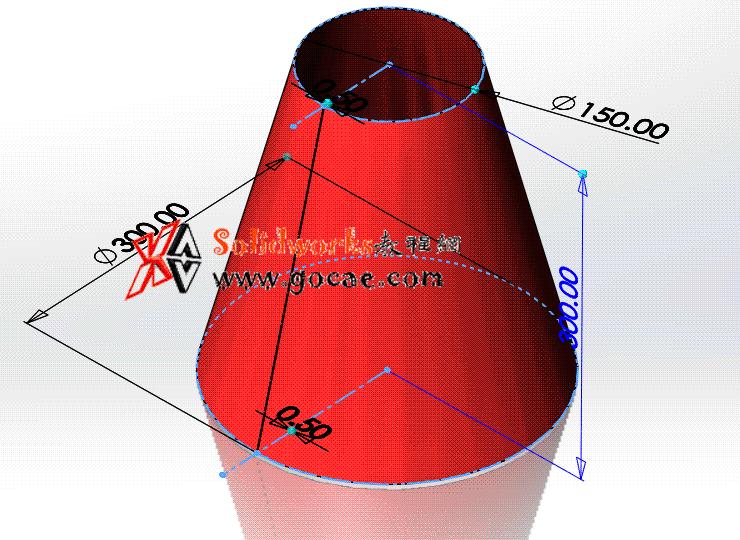 每日一练:#56 截头正圆锥管 solidworks 薄板放样 | 钣金视频教程