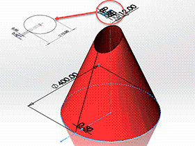 每日一练:#57 斜截正圆锥管 solidworks 薄板放样 | 钣金视频教程