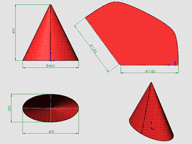 每日一练:#58 正椭圆锥 solidworks 薄板放样 | 钣金视频教程