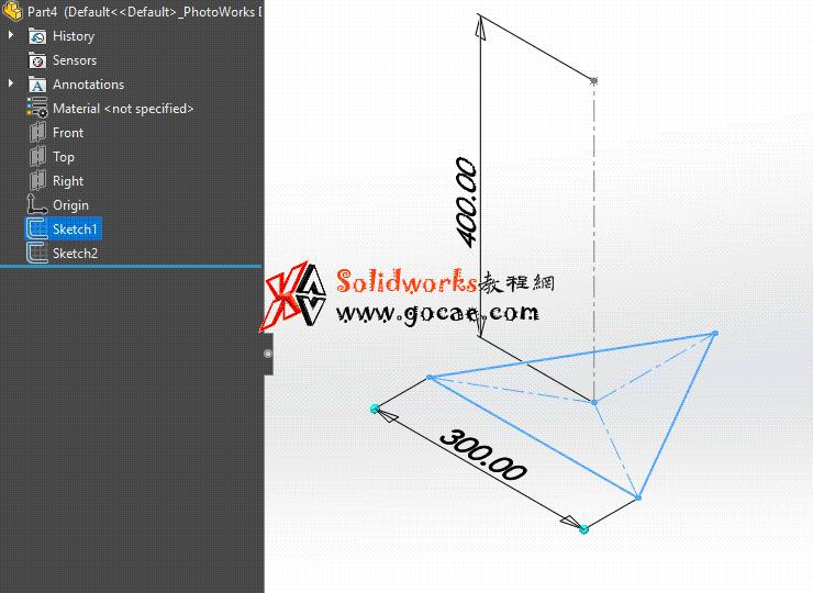 每日一练:#60 三棱锥 solidworks 薄板放样 | 钣金视频教程