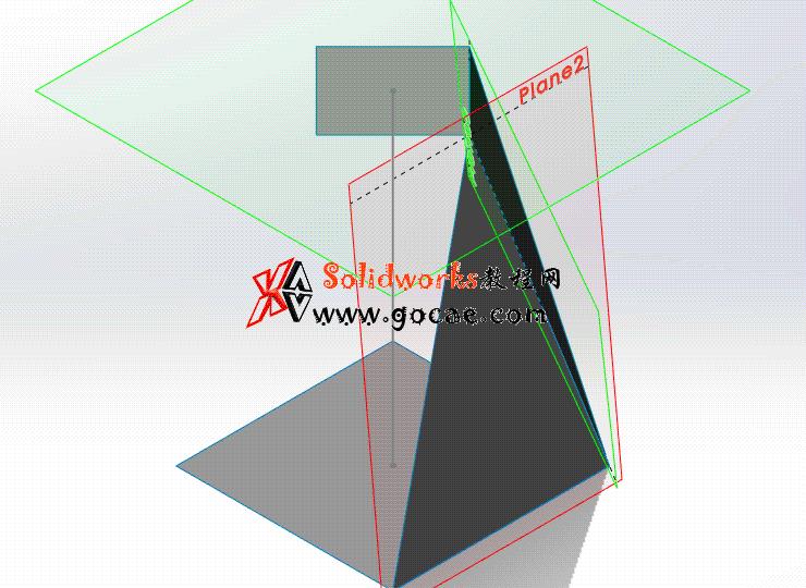 每日一练:#65 上口扭转45度的方锥管 矩形换向连接管 solidworks 薄板放样 | 钣金视频教程