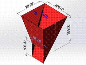 每日一练:#69 方口直角偏心连接管 solidworks 薄板放样 | 钣金视频教程