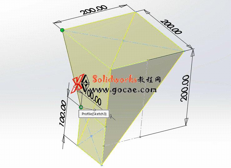每日一练:#69 方口直角偏心连接管 solidworks 薄板放样   钣金视频教程