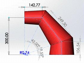 每日一练:#72 渐缩变径圆柱弯头 solidworks 薄板放样 | 钣金视频教程