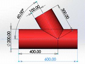 每日一练:#73 圆柱三通管 solidworks 薄板放样 | 钣金视频教程