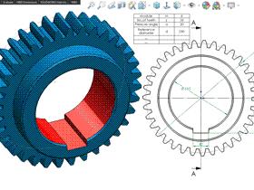 每日一练:#74 直齿圆柱齿轮做成solidworks 模板零件方便修改和出工程图 | 视频教程