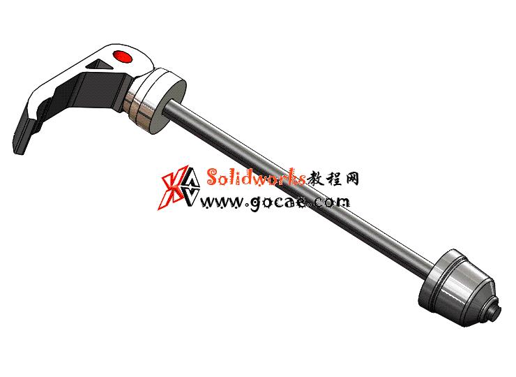 每日一练 #102   山地自行车快拆轴   solidworks2020 机械设计 案例视频教程