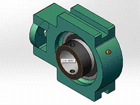 solidworks 标准件 #9 UELK 带滑块座轴承 GB╱T 7810 3D模型零件库 标准查询