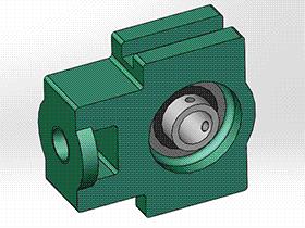 solidworks 标准件 #11 UCK 带滑块座轴承 GB╱T 7810 3D模型零件库 标准查询