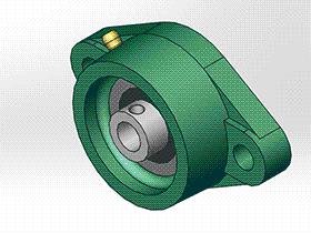 solidworks 标准件 #14 UCFLU 带菱形座轴承 GB╱T 7810 3D模型零件库 标准查询