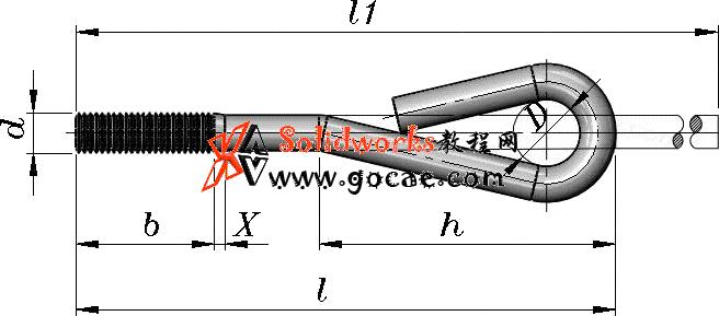 solidworks 标准件 #35 地脚螺栓 GB╱T 799 3D模型 三维零件库  标准查询