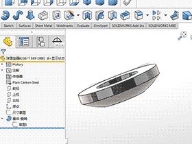 solidworks 标准件 #37 球面垫圈 GB╱T 849 3D模型 三维零件库 标准查询