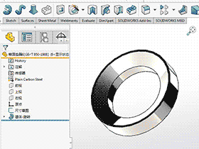 solidworks 标准件 #38 锥面垫圈 GB╱T 850 3D模型 三维零件库 标准查询