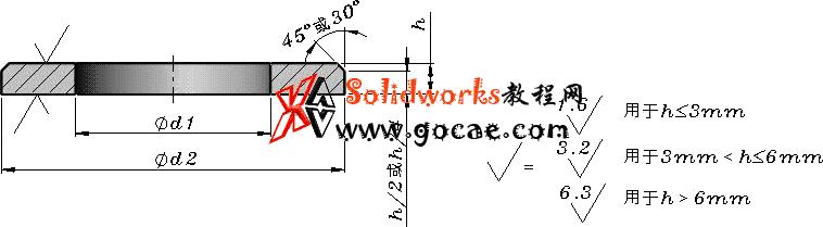 solidworks 标准件 #40 平垫圈倒角型A级 GB╱T97.2 3D模型 三维零件库 标准查询