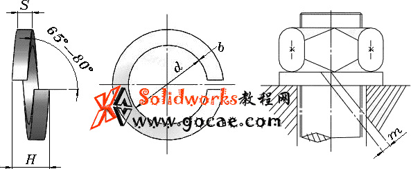 solidworks 标准件 #46 弹簧垫圈 轻型 GB╱T 859 3D模型 三维零件库 标准查询