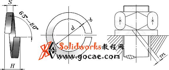 solidworks 标准件 #47 弹簧垫圈 重型 GB╱T 7244 3D模型 三维零件库 标准查询