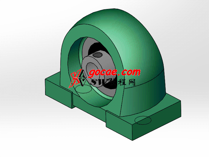 solidworks 标准件 #49 带窄立式座顶丝外球面球轴承 UCPA型 JB╱T 5303 3D模型 三维零件库 标准查询