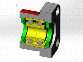 solidworks 标准件 #52 FK系列丝杆轴承座 电机固定座 solidworks 3D模型 三维零件库 标准查询