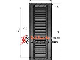 solidworks 标准件 #54 开口型冲压外圈滚针轴承[HK 0000型] GB/T 290-2017 solidworks 3D模型 三维零件库 标准查询