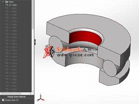 solidworks 标准件 #56 推力球轴承[53000] GB/T 301-1995 solidworks 3D模型 三维零件库 标准查询