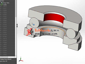 solidworks 标准件 #57 推力球轴承[53000U] GB/T 301-1995 solidworks 3D模型 三维零件库 标准查询