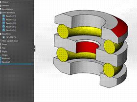 solidworks 标准件 #59 推力球轴承[54000] GB/T 301-1995 solidworks 3D模型 三维零件库 标准查询