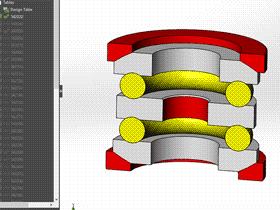 solidworks 标准件 #60 推力球轴承[54000U] GB/T 301-1995 solidworks 3D模型 三维零件库 标准查询