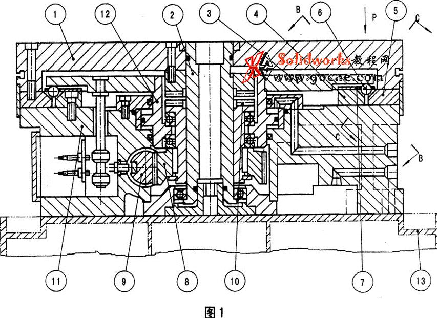 液压驱动分度回转工作台结构介绍