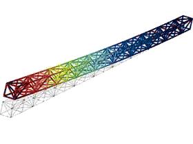 大跨距龙门机床横梁的的预张力结构