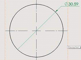 SolidWorks工程图如何标注尺寸成带折线的