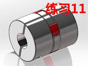 每日一练:#11  梅花联轴器的solidworks建模画法