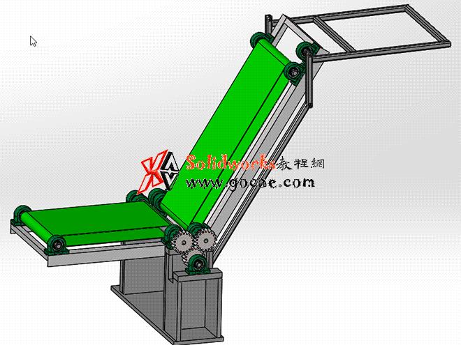 每日一练:#40 装卸用高度可调式皮带输送机 solidworks 建模视频教程