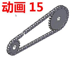 solidworks动画-教程#15-链轮与链条的装配仿真动画