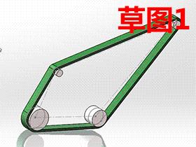 利用SOLIDWORKS草图块和 皮带/链工具 制作皮带的运动仿真