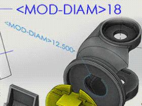 SolidWorks草图标注中直径尺寸前显示<MOD-DIAM>如何解决