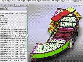 180度90度转弯皮带机3D图纸设计 F595 非标自动化设备3D图纸设计