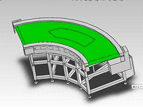90度转弯皮带机3D图纸 H358 K934 转弯机_SPSF1002