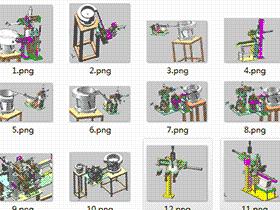 20套复杂振动盘直振上料分料取料结构图纸 solidworks三维模型 3D图纸