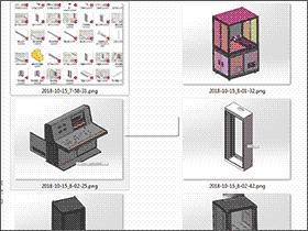 5套钣金电柜 solidworks三维模型 3D图纸
