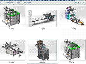 5套包装机 solidworks三维模型 3D图纸