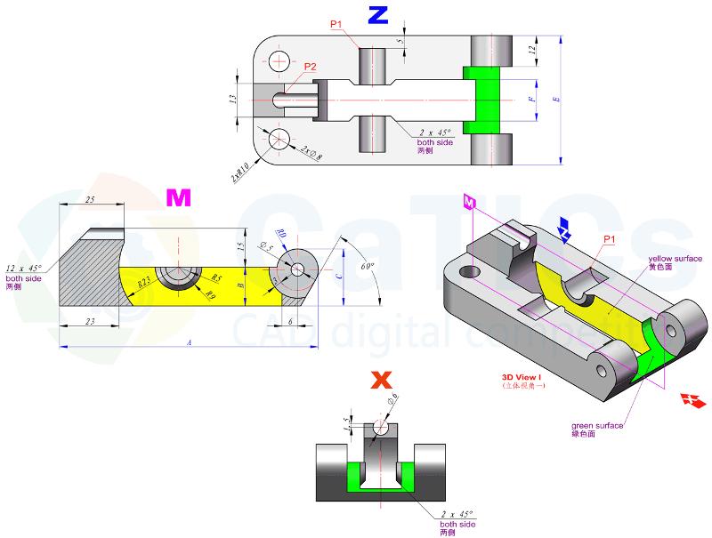 CaTICs竞赛 第13届 3D13-M03 solidworks 3D建模试题 第十三届网络赛